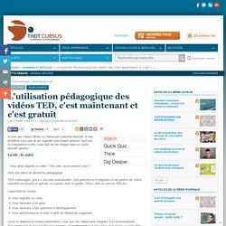 L'utilisation pédagogique des vidéos TED, c'est maintenant et c'est gratuit