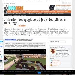 Utilisation pédagogique du jeu vidéo Minecraft au collège