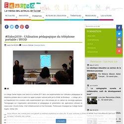 #Eidos2019 : Utilisation pédagogique du téléphone portable / BYOD