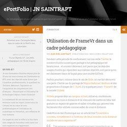 Utilisation de FrameVr dans un cadre pédagogique – ePortFolio