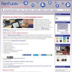 Utilisation des tablettes dans un contexte pédagogique (dossier)