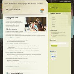 Guide d'utilisation pédagogique des médias sociaux