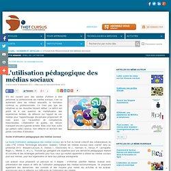 L'utilisation pédagogique des médias sociaux