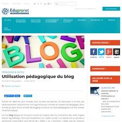 Utilisation pédagogique du blog