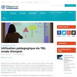 Utilisation pédagogique du TBI, mode d'emploi