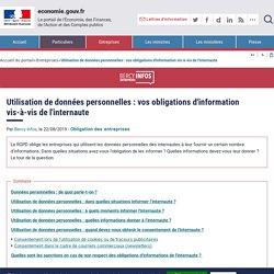 Utilisation de données personnelles : vos obligations d'information vis-à-vis de l'internaute