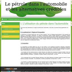 I. L'utilisation du pétrole dans l'automobile
