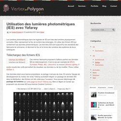 Utilisation Des Lumières Photométriques (IES) Avec Yafaray