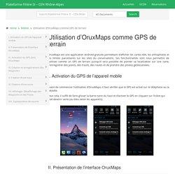 Utilisation d'OruxMaps comme GPS de terrain
