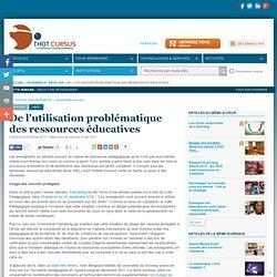 2011 Utilisation problématique des ress pedago...