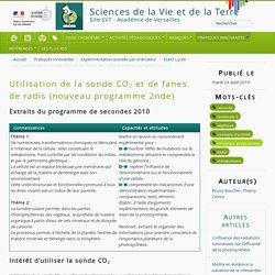 Utilisation de la sonde CO2 et de fanes de radis (nouveau programme 2nde) - Sciences de la Vie et de la Terre