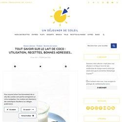 Tout savoir sur le lait de coco : utilisation, recettes, bonnes adresses...