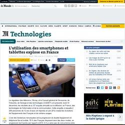 L'utilisation des smartphones et tablettes explose en France