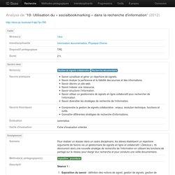 socialbookmarking-recherche d'information