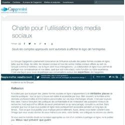 Charte pour l'utilisation des media sociaux