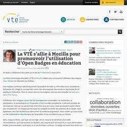 La VTÉ s'allie à Mozilla pour promouvoir l'utilisation d'Open Badges en éducation