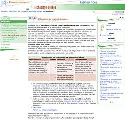 Utilisation du logiciel Algodoo- Technologie Collège