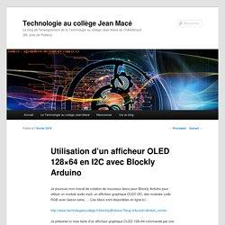 Utilisation d'un afficheur OLED 128×64 en I2C avec Blockly Arduino