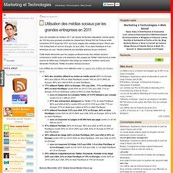 Utilisation des médias sociaux par les grandes entreprises en 2011