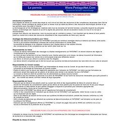 PROCÉDURE POUR L'UTILISATION APPROPRIÉE DES TÉLÉCOMMUNICATIONS