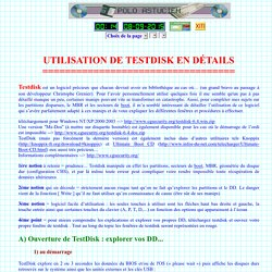 Utilisation de TestDisk en détails