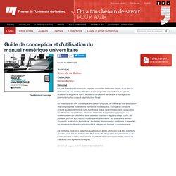 Guide de conception et d'utilisation du manuel numérique universitaire