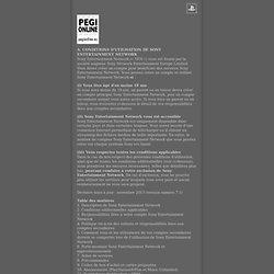 CONDITIONS D'UTILISATION / ACCORD UTILISATEUR
