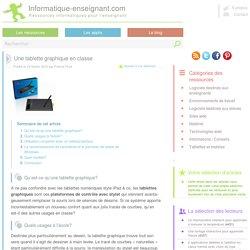Utilisation d'une tablette graphique en classe avec un vidéoprojecteur