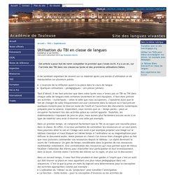Utilisation du TBI en classe de langues - [Site des langues vivantes de l'Académie de Toulouse]