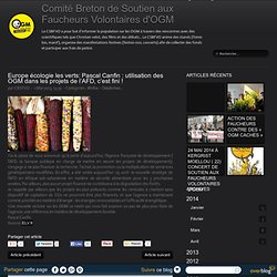 Comité Breton de Soutien aux Faucheurs Volontaires d'OGM