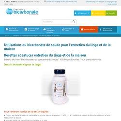 Utilisations du bicarbonate de soude pour l'entretien du linge et de la maison