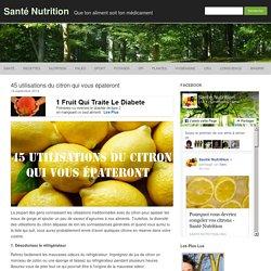 45 utilisations des citrons à couper le souffle