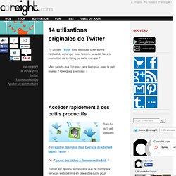 14 utilisations originales de Twitter