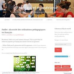 Padlet : diversité des utilisations pédagogiques en français