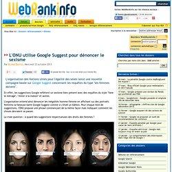 L'ONU utilise Google Suggest pour dénoncer le sexisme