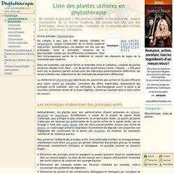 Liste des plantes utilisées en phytothérapie