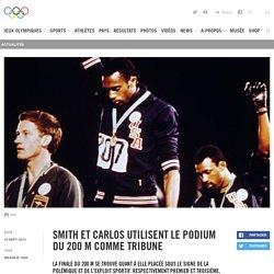 Smith et Carlos utilisent le podium du 200 m comme tribune - Actualité Olympique