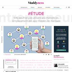 #Étude : 10% des Français utilisent les chatbots en remplacement des app mobiles de marques - Maddyness