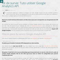Kit de survie: Tuto utiliser Google Analytics API - Wanadev