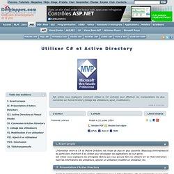 Utiliser C# et Active Directory