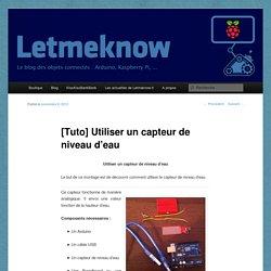 [Tuto] Utiliser un capteur de niveau d'eau