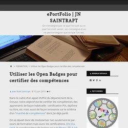 Utiliser les Open Badges pour certifier des compétences – ePortFolio