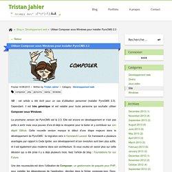 Tristan Jahier » Utiliser Composer sous Windows pour installer PyroCMS 2.3