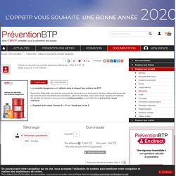 Utiliser en sécurité les produits dangereux Prévention BTP