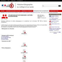 Utiliser des BD pour enseigner l'Histoire-Géographie/EMC