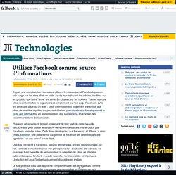 Utiliser Facebook comme source d'informations