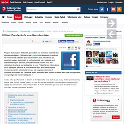Utiliser Facebook de manière sécurisée