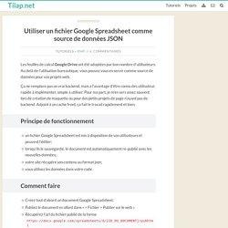 Utiliser un fichier Google Spreadsheet comme source de données JSON