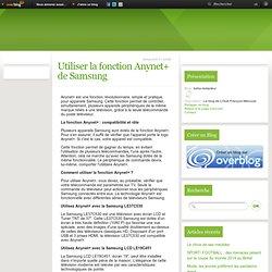 Utiliser la fonction Anynet+ de Samsung - turbo-redacteur