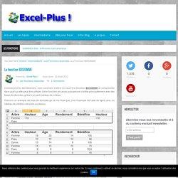 Utiliser la fonction BDSOMME pour vos traitements de bases de données